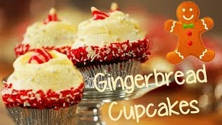 Glamorous Gingerbread Cupcakes | Just Add Sugar