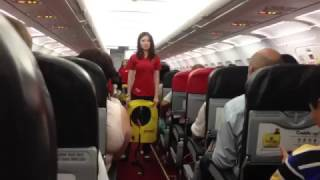 Video Funniest safety briefing ever with sexy Thai flight attendant!!! Air Asia AK 1922 download MP3, 3GP, MP4, WEBM, AVI, FLV Agustus 2018
