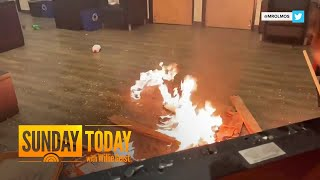 Riot Declared In Portland After Protesters Start Fire In Police Union Office | Sunday TODAY