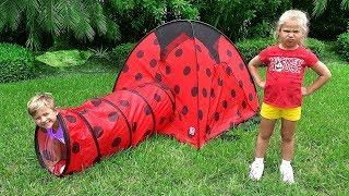 Diana e sua aventura de acampamento