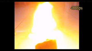 Nitrocellulose Burns in Slow Motion - Lu Le Laboratory