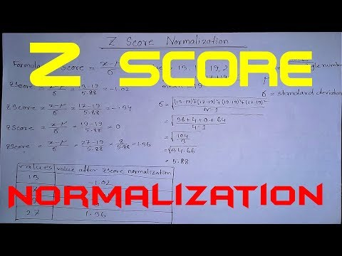 Data Mining | Z Score Normalization | Normal Distribution | Z Score Formula