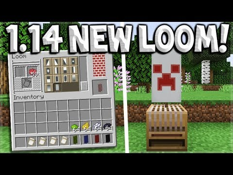 Minecraft 1 14 Update New Village Pillage Loom Crafting Block How To Make Banners In Seconds Youtube
