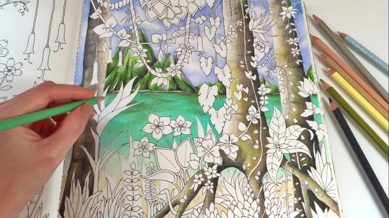 ... Paradise - Part 1 | Adult Coloring Book by Johanna Basford - YouTube