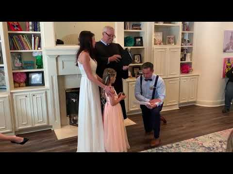 Scott Davidson - WATCH: Stepdad Makes Separate Vows to Wife's Daughter