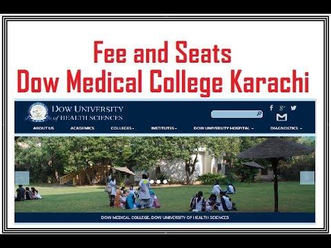 Seats and Fee at Dow Medical College Karachi on hamdard university karachi, sindh medical college karachi, aga khan university karachi, fatima jinnah medical college karachi,