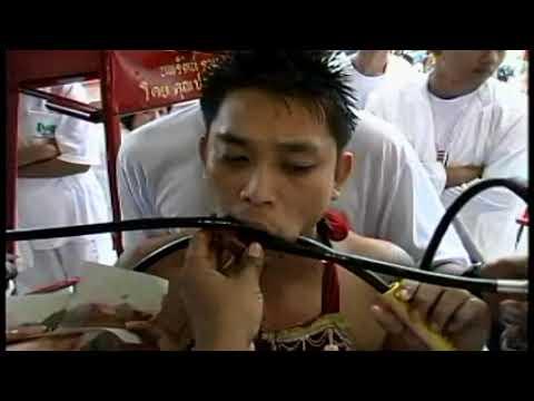 Best US Divers Scuba Diving Face Piercing Regulators Phuket Chinese Vegetarian Festival