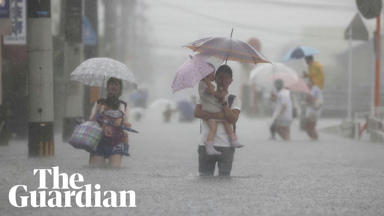 Download Heavy rain in Japan triggers floods and landslides