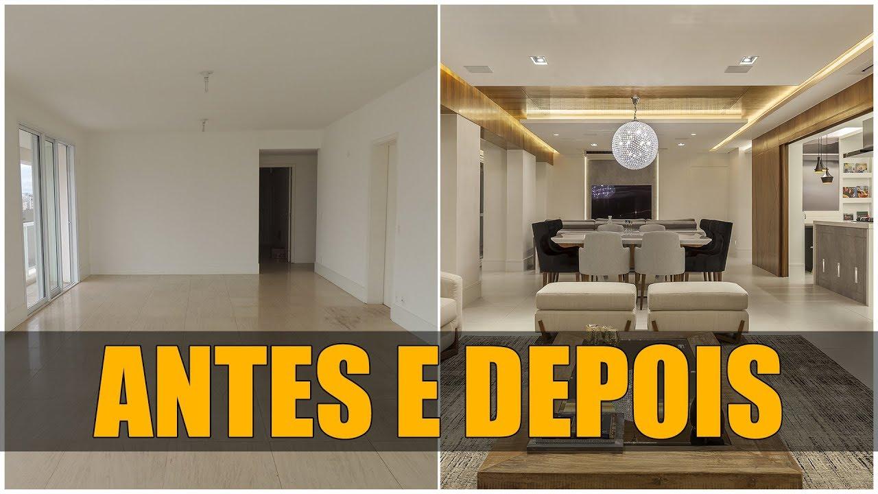 Antes e depois sala reforma de apartamento de 220 m youtube - Reformas de apartamentos ...