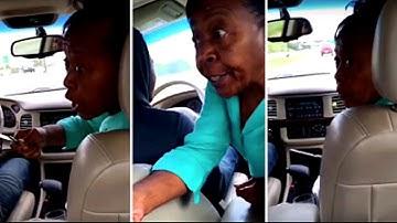 Grandma pulls knife on disrespectful grandson