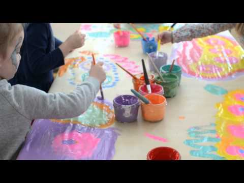 Collaborative Painting with Kids