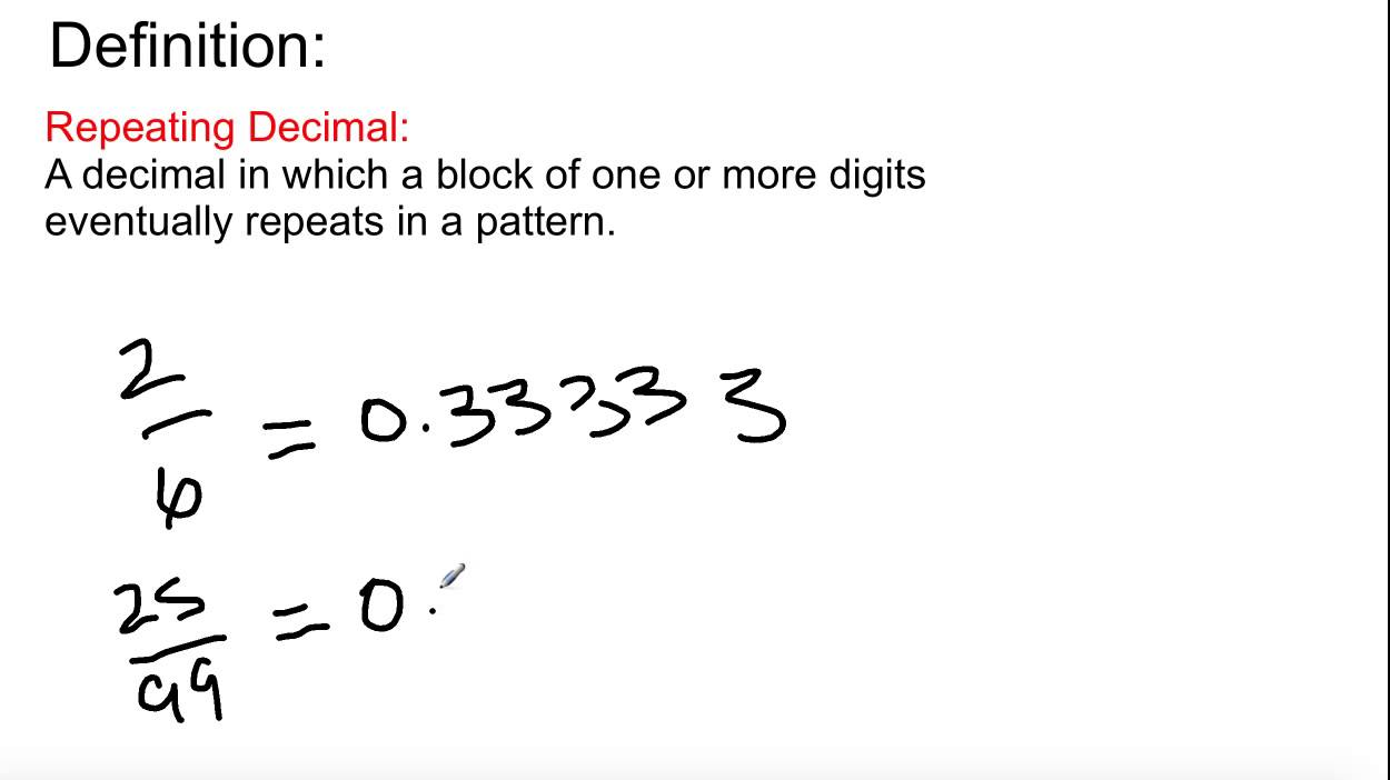 small resolution of Grade 8 Math: Lesson 2.1 - Expressing Fractions as Decimals - YouTube
