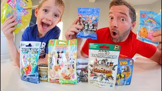 Father & Son TEST $5 DOLLAR TOYS FROM WALGREENS! /Bey Blades, CUTE THINGS, And More!