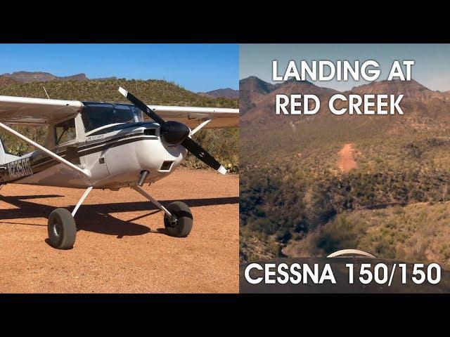 Landing at Red Creek Dirt Strip - Arizona