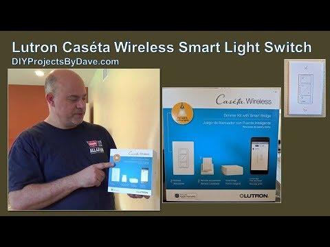 Lutron Caseta Wireless In-wall Dimmer Smart Light Switch Installation
