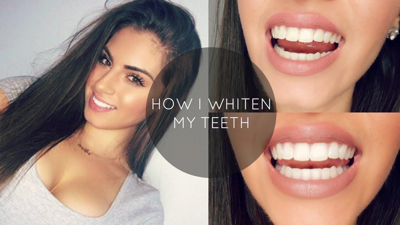 How I Whiten My Teeth At Home Nazanin Kavari Youtube
