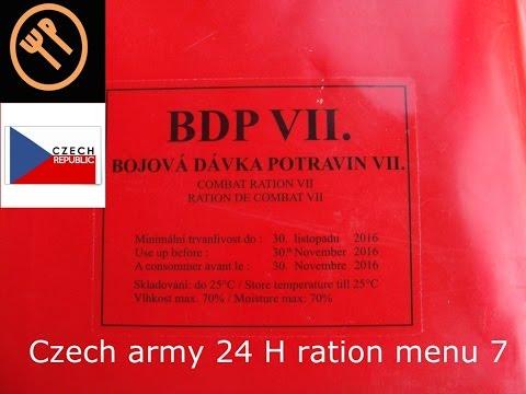 Czech 24h combat ration menu 7- bojová dávka potravin (BB 2016)