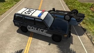 Police Chase Takedowns  - BeamNG.Drive Crashes