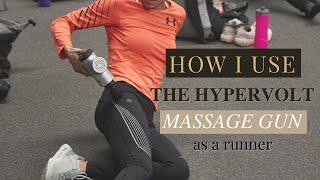 How I Use the HyperVolt Massage Gun- Running