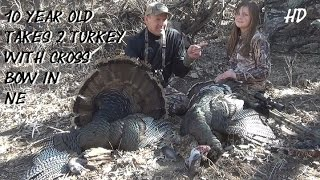 NE Archery Turkey double 10 yr old girl with Cross Bow SCORES