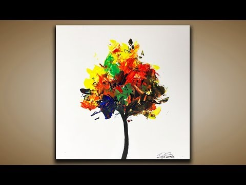 Abstract Painting Ideas Tree