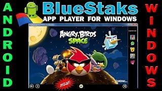 видео BlueStacks эмулятор Андроид-планшета на компьютере с Виндовс
