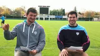 """Interview """"entre potos"""" de l'US Colomiers rugby."""