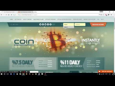 Coin Enterprises - 7,5% AO DIA - ONLINE A 1 DIA
