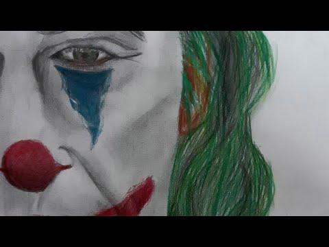 || Speed Drawing || Портрет Джокера || Хоакин Феникс