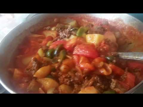 Ground Meat Beef Stew With Vegetables