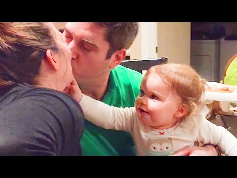 Babies Reaction When Daddy Kiss Mommy - WE LAUGH