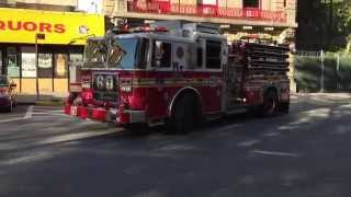 FDNY ENGINE 60 RETURNING TO QUARTER ON 143RD ST. IN THE SOUTH BRONX AREA OF THE BRONX, NYC.