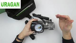Обзор автомобильного компрессора Uragan 90135 с автостопом