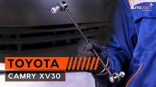 Como trocar tirante da barra estabilizadora traseira Toyota Camry XV30 TUTORIAL | AUTODOC