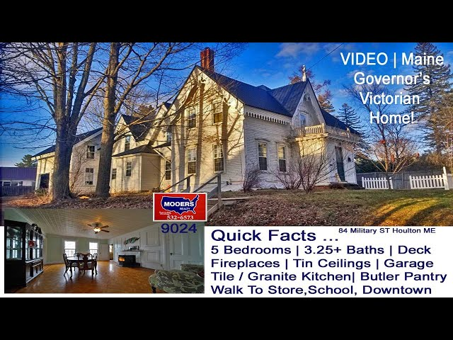 Victorian Homes In Maine For Sale Video  | 84 Military ST Houlton ME Property MOOERS REALTY 9024