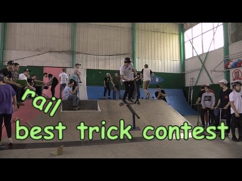 rail kick scooter best trick  - Winter Scooter Games 2016 20161120