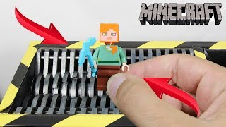 Experiment Shredding Lego Minecraft Diamond Axe And Toys | The Crusher