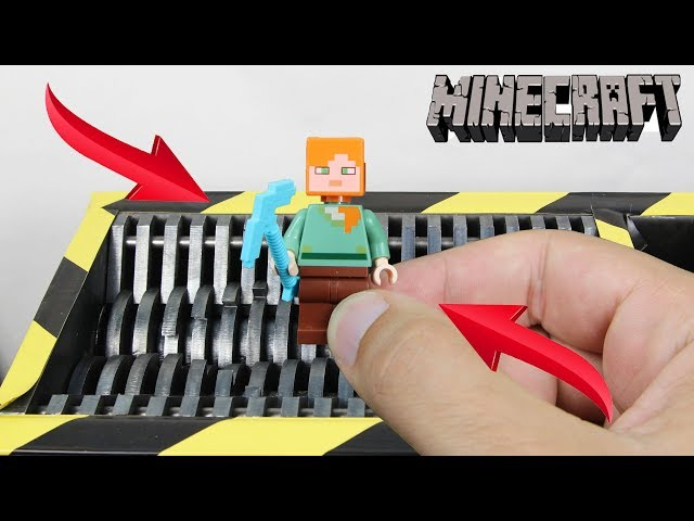 Experiment Shredding Lego Minecraft Alex | The Crusher