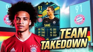 INSANE 91 RATED *TRANSFERRED* LEROY SANE TEAM TAKEDOWN vs CapGunTom!!! (FIFA 20 TEAM TAKEDOWN)