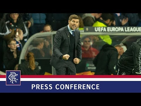 PRESS CONFERENCE | Steven Gerrard | Rangers 3-1 Rapid Vienna