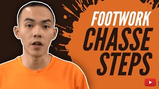 Footwork Chasse Steps - Badminton Tutorial featuring Xiaoyu (Chinese with English Subtitles)