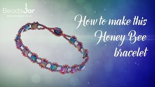 How to make this Honeycomb bead Bracelet | Honeycomb seed beads (106)