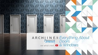 Everything About Doors and Windows in ARCHLine.XP - Webinar