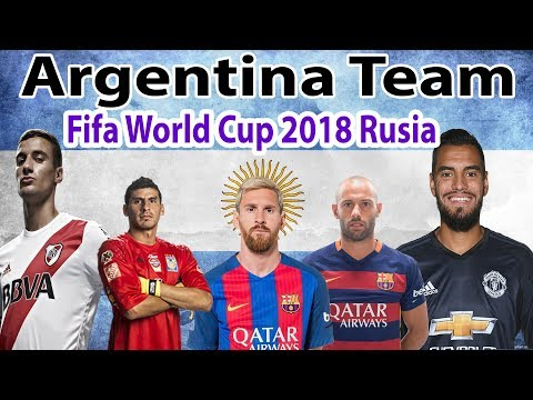 Argentina Team Official New Squad For Fifa World Cup 2018 Rusia