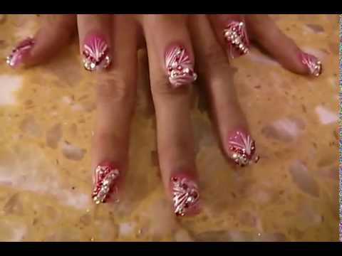 - Curved Nails Pretty Nail Design - YouTube