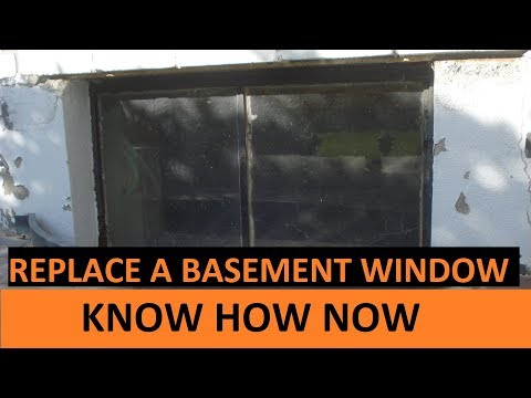 Replace a Steel Frame Basement Hopper Window