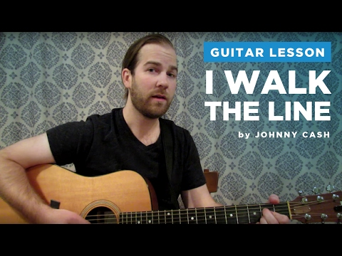 "How to play ""I Walk The Line"" by Johnny Cash (Guitar Chords & Lesson)"