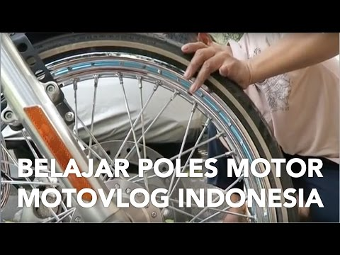 Belajar Poles Motor!! #motovlog Indonesia