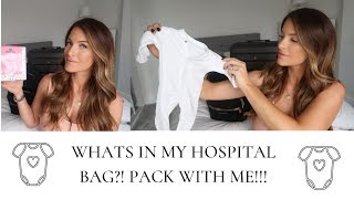 WHATS IN MY HOSPITAL BAG?! | PACK WITH ME | HINTS AND TIPS FOR PACKING YOUR HOSPITAL BAG