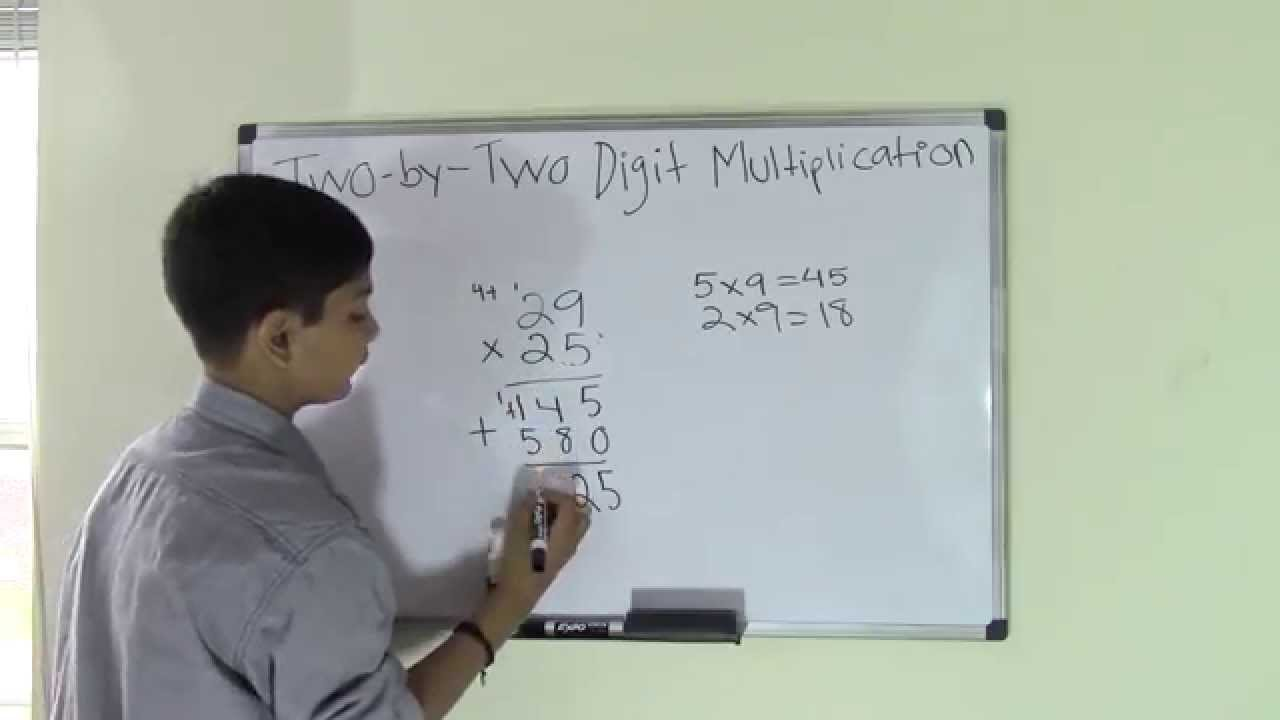 5th Grade Math Two Digit by Two Digit Multiplication - YouTube